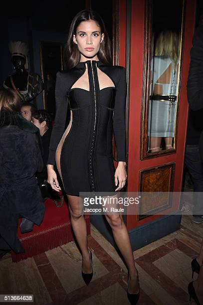 Sara Sampaio attends Balmain Aftershow Party as part of Paris Fashion Week Womenswear Automn/Winter 2016 at Restaurant Laperouse on March 3 2016 in...