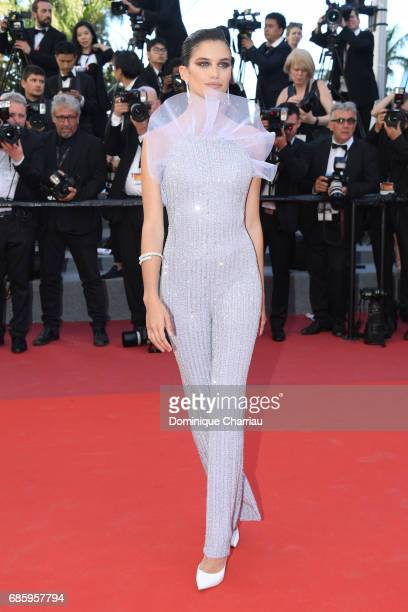 Sara Sampaio attends the '120 Beats Per Minute ' screening during the 70th annual Cannes Film Festival at Palais des Festivals on May 20 2017 in...
