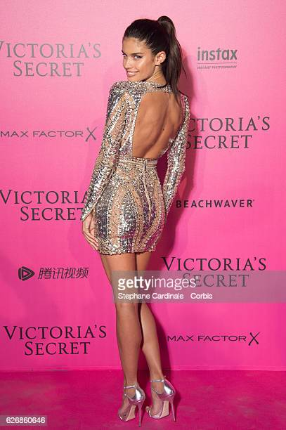 Sara Sampaio attends the 2016 Victoria's Secret Fashion Show after party at Le Grand Palais on November 30 2016 in Paris France