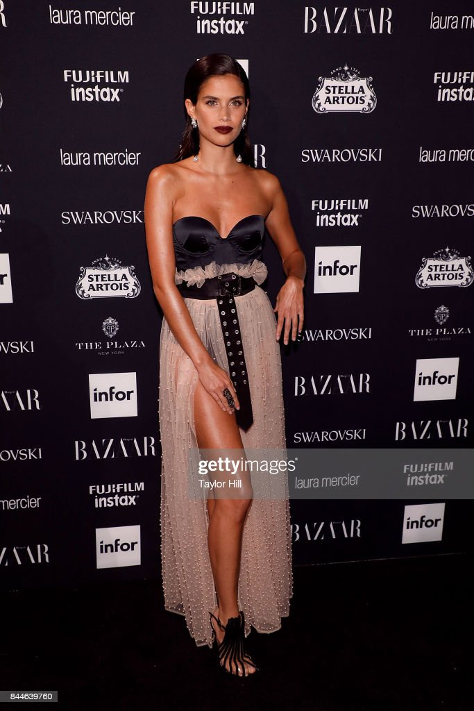 Sara Sampaio attends the 2017 Harper ICONS party at The Plaza Hotel on September 8, 2017 in New York City.