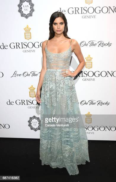 Sara Sampaio attends the De Grisogono 'Love On The Rocks' party during the 70th annual Cannes Film Festival at Hotel du CapEdenRoc on May 23 2017 in...