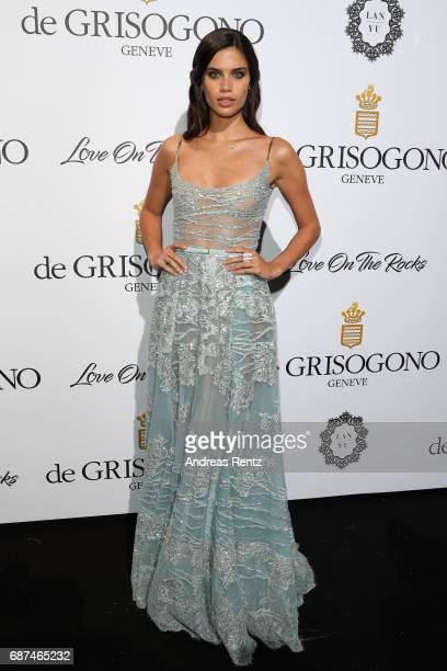 Sara Sampaio attends the DeGrisogono 'Love On The Rocks' during the 70th annual Cannes Film Festival at Hotel du CapEdenRoc on May 23 2017 in Cap...