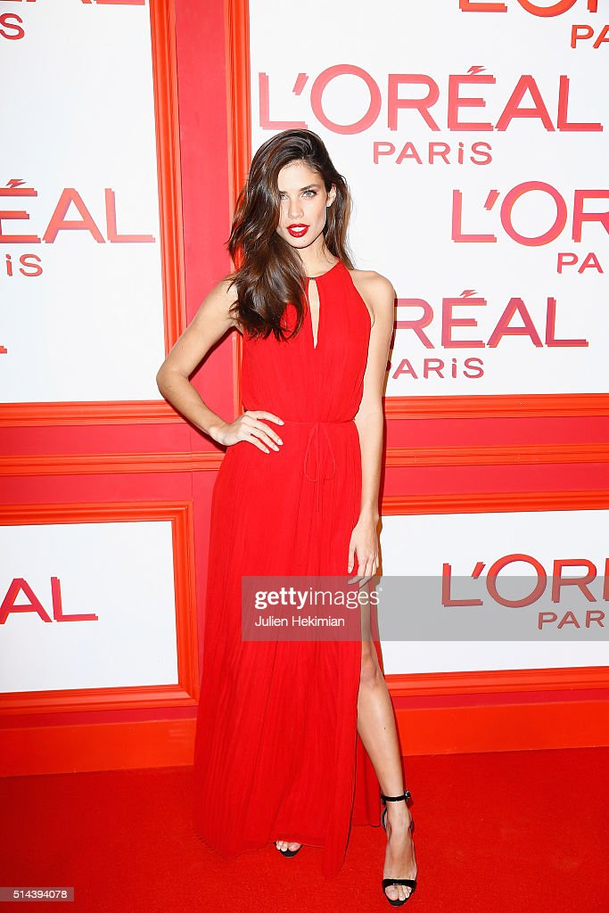 Sara Sampaio attends the L'Oreal Red Obsession Party during Paris Fashion Week Womenswear Fall/Winter 2016/2017 on March 8 2016 in Paris France