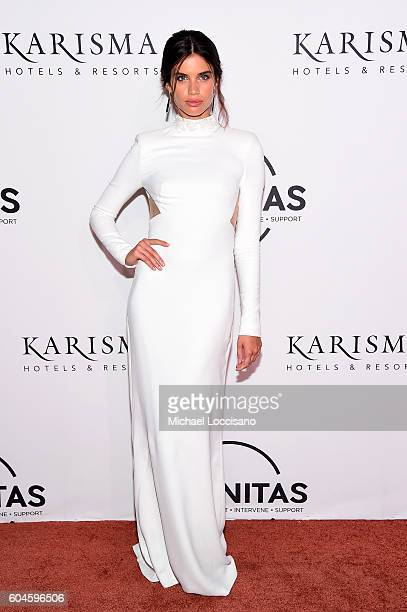 Sara Sampaio attends the UNITAS 2nd annual gala against human trafficking at Capitale on September 13 2016 in New York City