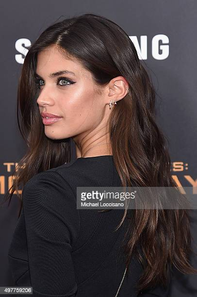 Sara Sampaio atttends 'The Hunger Games Mockingjay Part 2' New York Premiere at AMC Loews Lincoln Square 13 theater on November 18 2015 in New York...