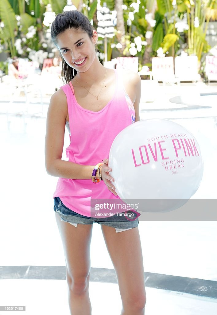 Sara Sampaio is seen at the Victoria's Secret PINK Ultimate Spring Break Dance Party at Raleigh Hotel on March 13, 2013 in Miami Beach, Florida.
