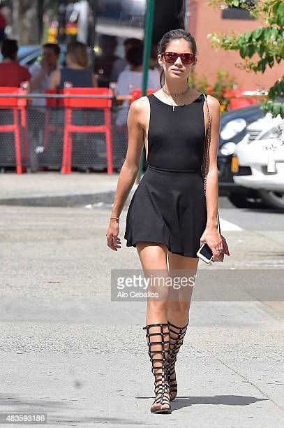 Sara Sampaio is seen in Soho on August 10 2015 in New York City