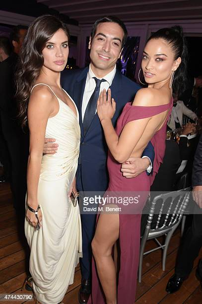 Sara Sampaio Mohammed Al Turki and Shanina Shaik attend the de Grisogono 'Divine In Cannes' party at Hotel du CapEdenRoc on May 19 2015 in Cap...