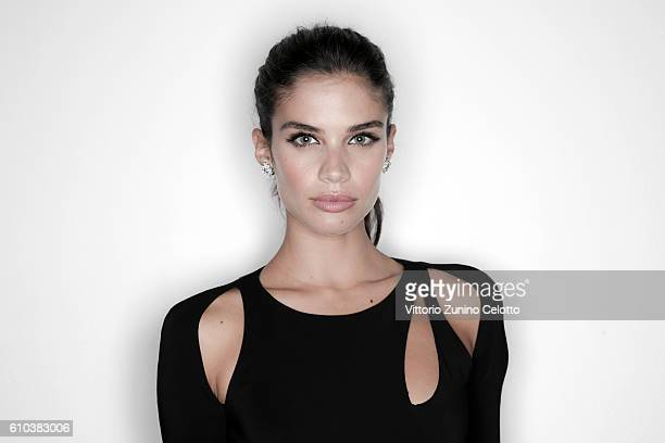Sara Sampaio poses for a portrait during amfAR Milano 2016 at La Permanente on September 24 2016 in Milan Italy