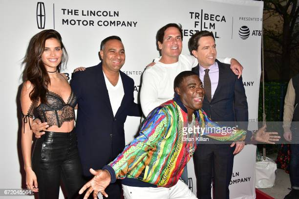 Sara Sampaio Russell Peters Mark Cuban Ed Helms and Tracy Morgan attend the 2017 Tribeca Film Festival 'The Clapper' screening at SVA Theatre on...