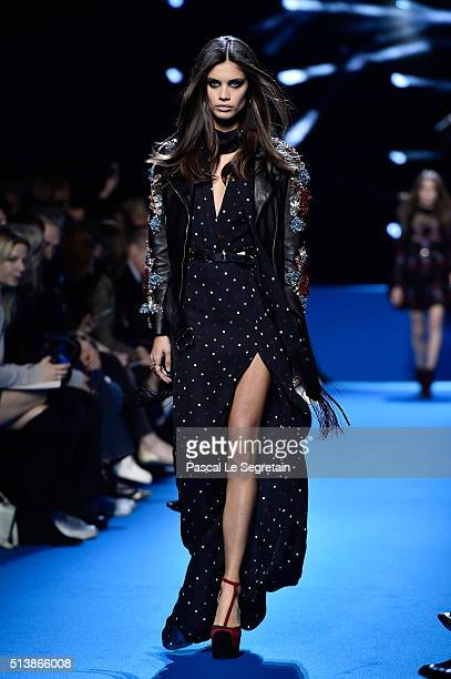 Sara Sampaio walks the runway during the Elie Saab show as part of the Paris Fashion Week Womenswear Fall/Winter 2016/2017 on March 5 2016 in Paris...