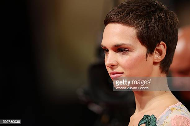 Sara Serraiocco attends the premiere of 'Tommaso' during the 73rd Venice Film Festival at Sala Grande on September 6 2016 in Venice Italy