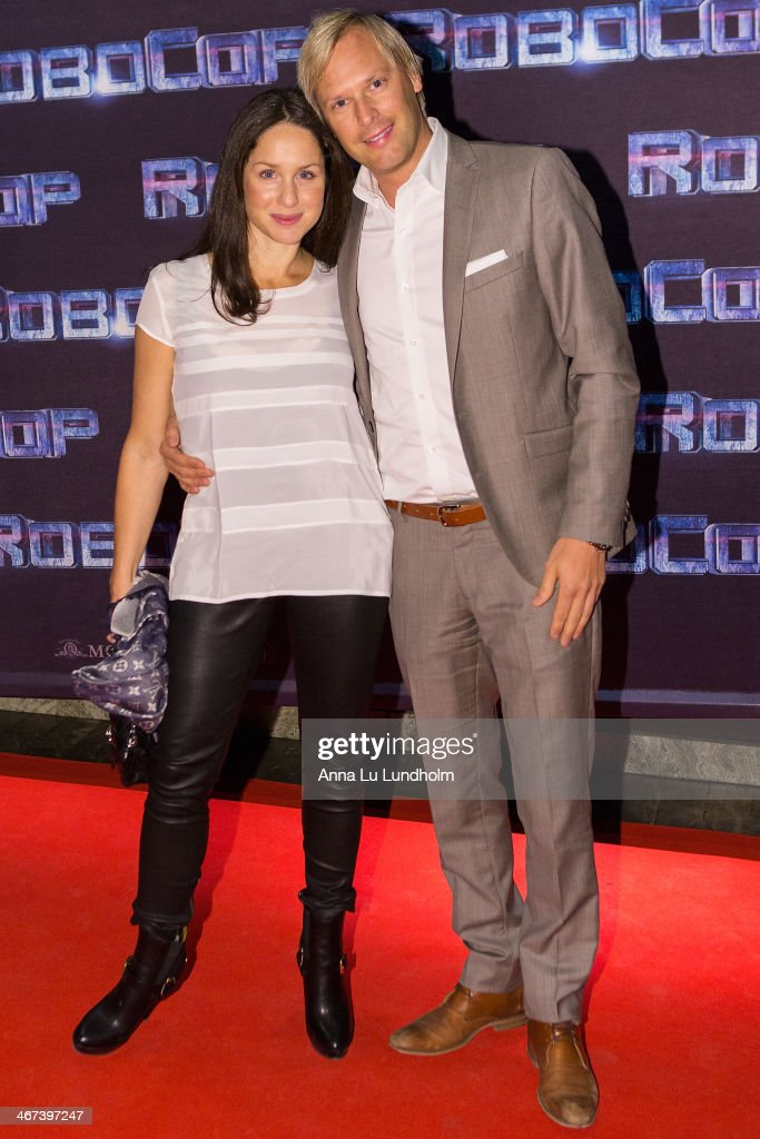 Sara Sommerfeld and Jonas Unger attends the Stockholm premiere of 'Robocop' at Rigoletto on February 6, 2014 in Stockholm, Sweden.