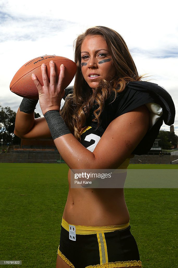 Sara Stanford of the Western Australian Angels poses during a Legends Football League (LFL) media day at nib Stadium on June 18, 2013 in Perth, Australia.
