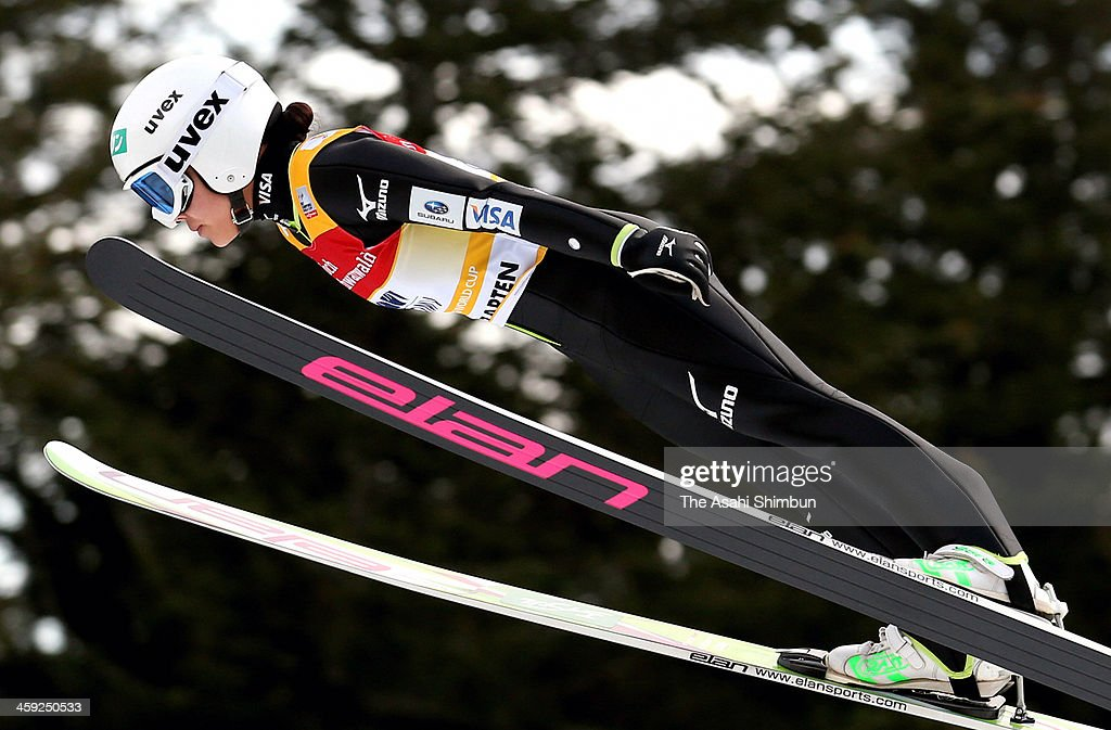 <a gi-track='captionPersonalityLinkClicked' href=/galleries/search?phrase=Sara+Takanashi&family=editorial&specificpeople=7521573 ng-click='$event.stopPropagation()'>Sara Takanashi</a> of Japan competes in the first jump during the FIS Women's Ski Jumping on December 22, 2013 in Hinterzarten, Germany.