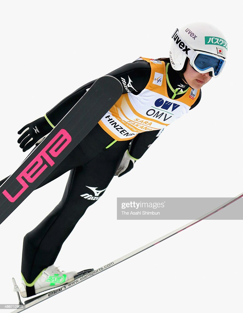 <a gi-track='captionPersonalityLinkClicked' href=/galleries/search?phrase=Sara+Takanashi&family=editorial&specificpeople=7521573 ng-click='$event.stopPropagation()'>Sara Takanashi</a> of Japan jumps the Normal Hill Individual 2st Round during the FIS Women's Ski Jumping World Cup at Hinzenbach Jump Stadium on February 2, 2014 in Eferding, Austria.