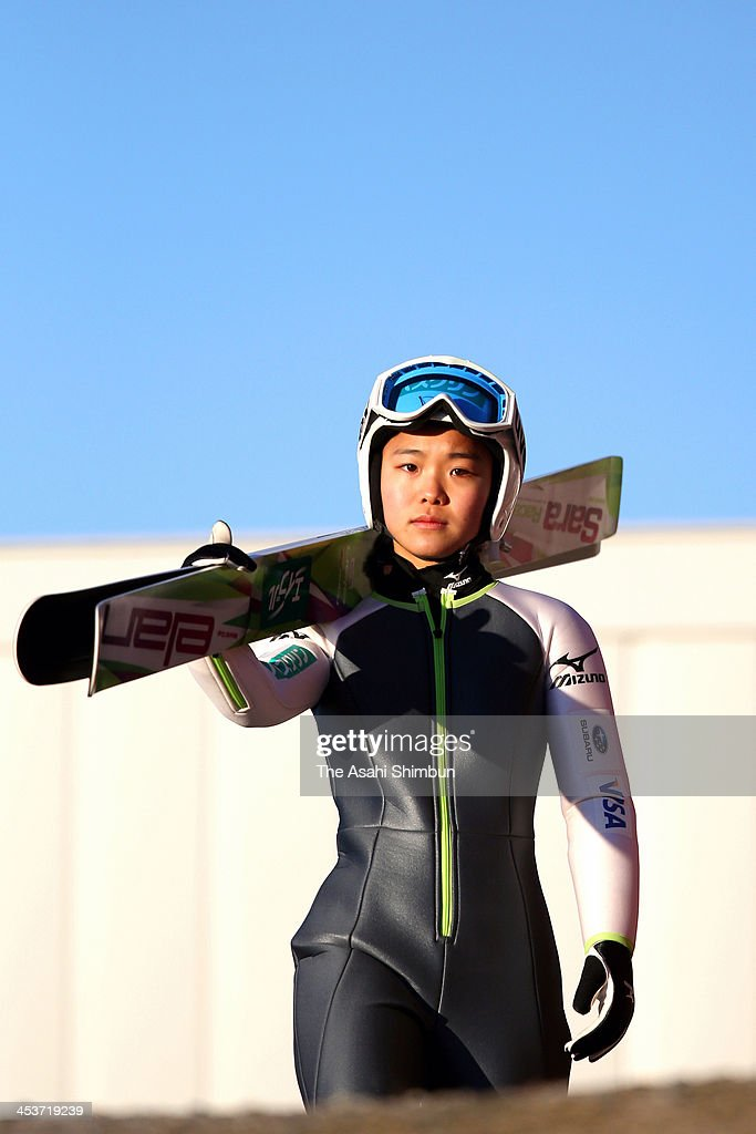 <a gi-track='captionPersonalityLinkClicked' href=/galleries/search?phrase=Sara+Takanashi&family=editorial&specificpeople=7521573 ng-click='$event.stopPropagation()'>Sara Takanashi</a> of Japan looks on during the training session of the FIS Ski Jumping World Cup at Lysgaardsbakkene Ski Jumping Hill on December 4, 2013 in Lillehammer, Norway.
