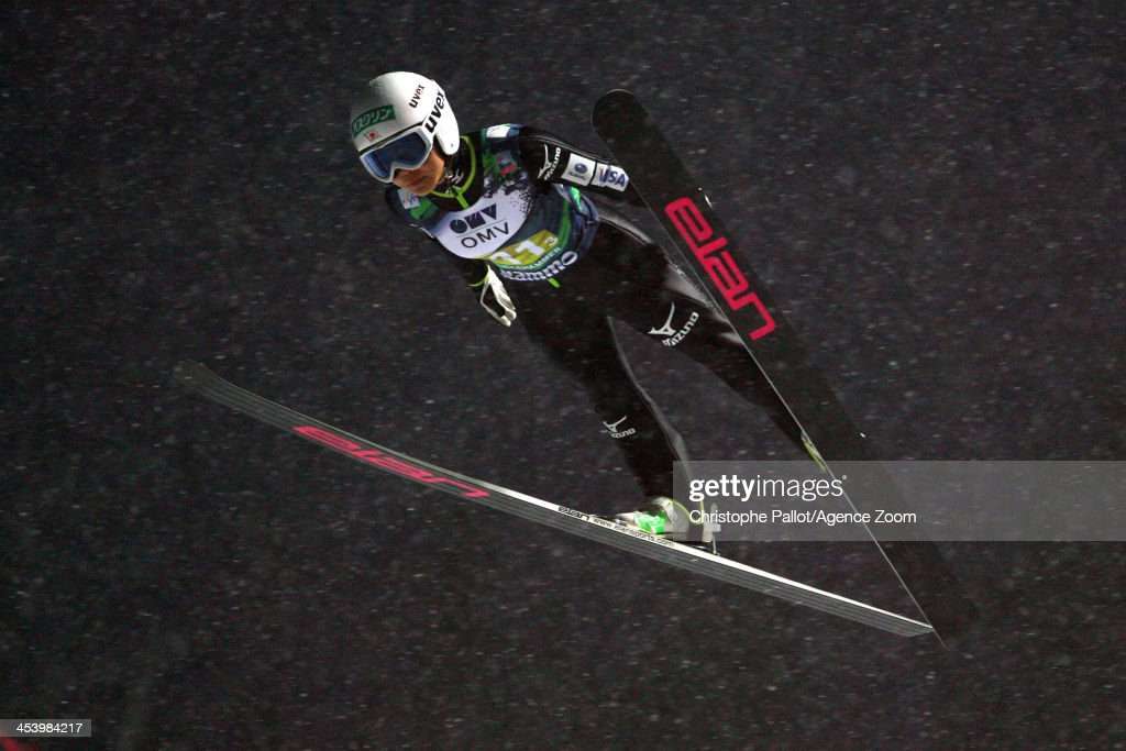 <a gi-track='captionPersonalityLinkClicked' href=/galleries/search?phrase=Sara+Takanashi&family=editorial&specificpeople=7521573 ng-click='$event.stopPropagation()'>Sara Takanashi</a> of Japan takes 1st place during the FIS Ski Jumping World Cup Mixed Team HS100 on December 06, 2013 in Lillehammer, Norway.