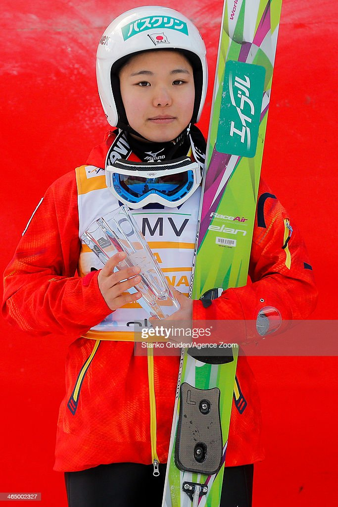 <a gi-track='captionPersonalityLinkClicked' href=/galleries/search?phrase=Sara+Takanashi&family=editorial&specificpeople=7521573 ng-click='$event.stopPropagation()'>Sara Takanashi</a> of Japan takes 2nd place during the FIS Ski Jumping World Cup Women's HS95 on January 25, 2014 in Planica, Slovenia.