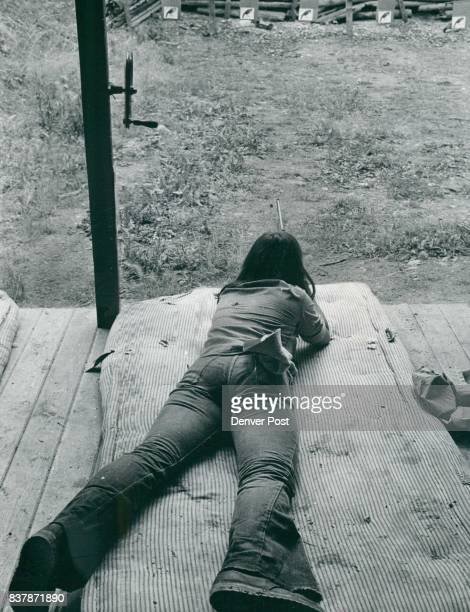 Sara takes aim with her 22 caliber rifle during target practice at the Camp She has been coming to camp for 7 years without many problems Credit...