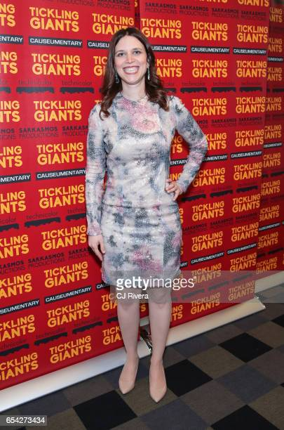 Sara Taksler attends 'Tickling Giants' New York premiere at IFC Center on March 16 2017 in New York City