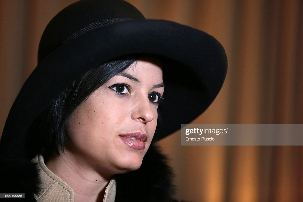 Sara Tommasi attends the Launch of her book 'Ora Basta Parlo Io' at Elle Restaurant on December 12, 2012 in Rome, Italy.
