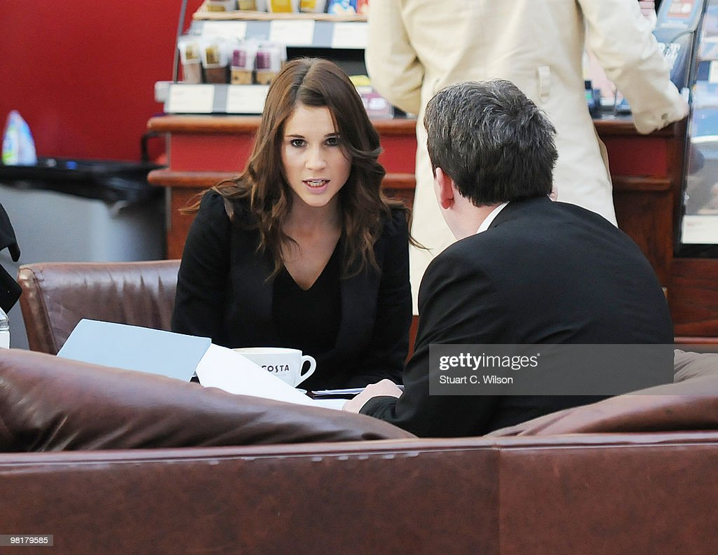 Sara Trumble is pictured prior to an employment tribunal at Ashford Employment Tribunal Centre on April 1, 2010 in Ashford, Kent.