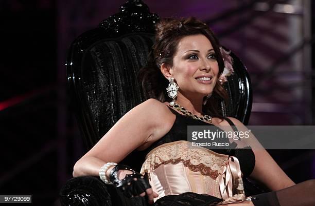 Sara Varone attends the 'Barbareschi Sciok' Italian TV Show at La7 Studios on March 12 2010 in Rome Italy