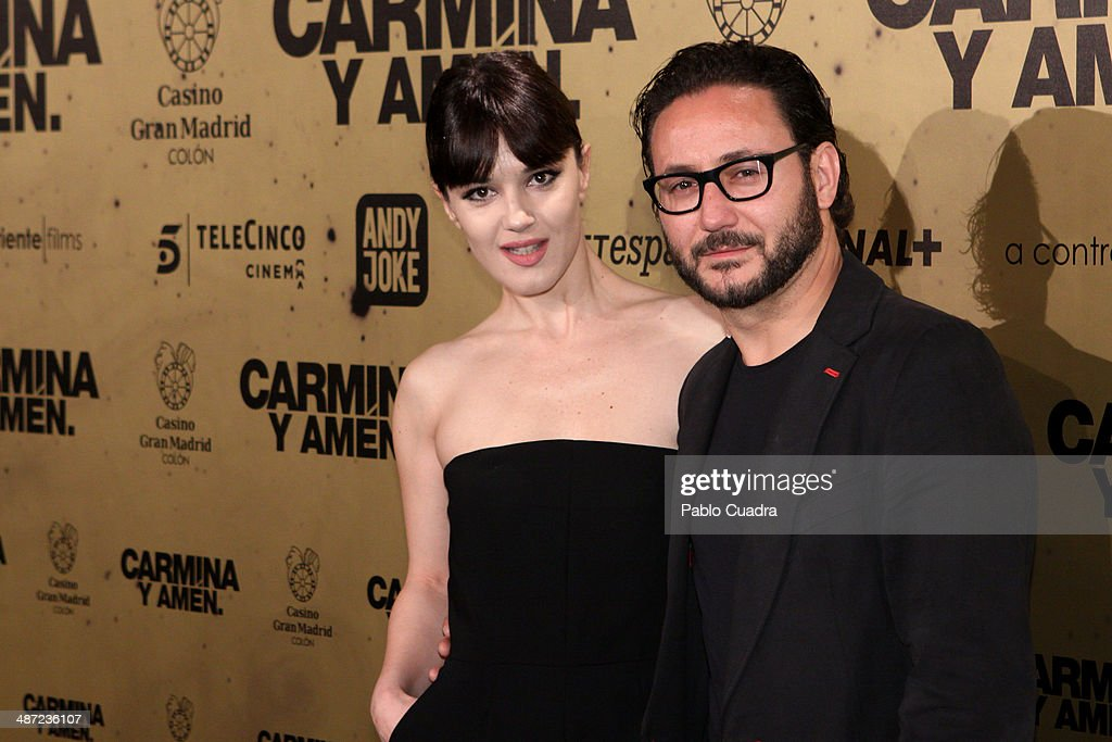 Sara Vega and Carlos Santos attend the 'Carmina y Amen' premiere at the Callao cinema on April 28, 2014 in Madrid, Spain.