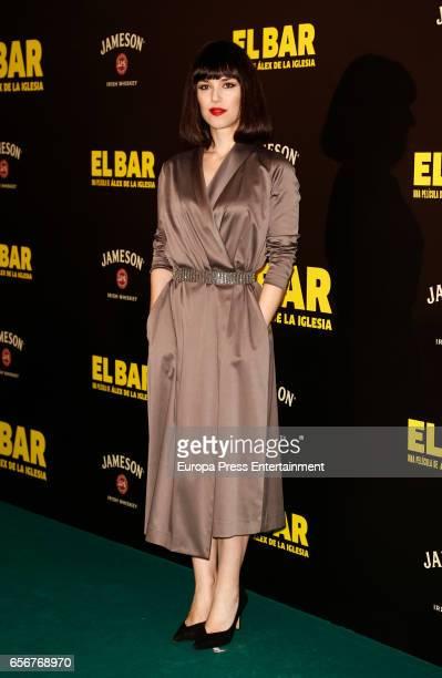 Sara Vega attends 'El Bar' premiere at Callao cinema on March 22 2017 in Madrid Spain