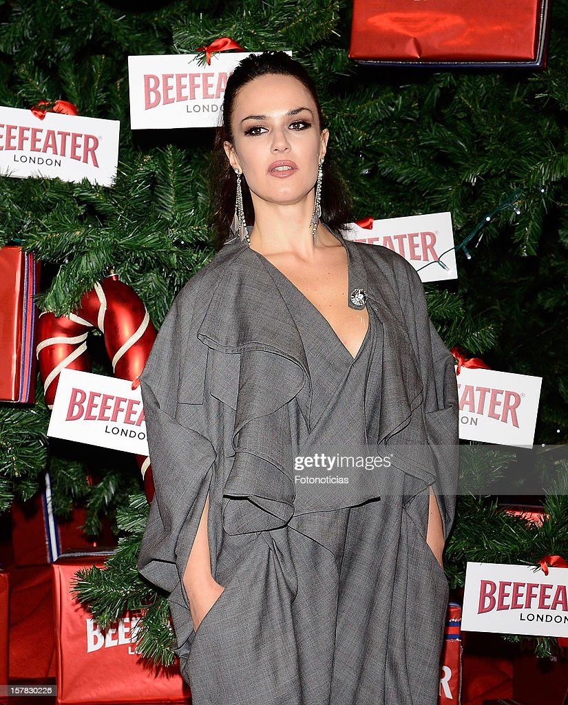 Sara Vega attends the inauguration of Beefeater London Market at the Palacio de Cibeles on December 6, 2012 in Madrid, Spain.