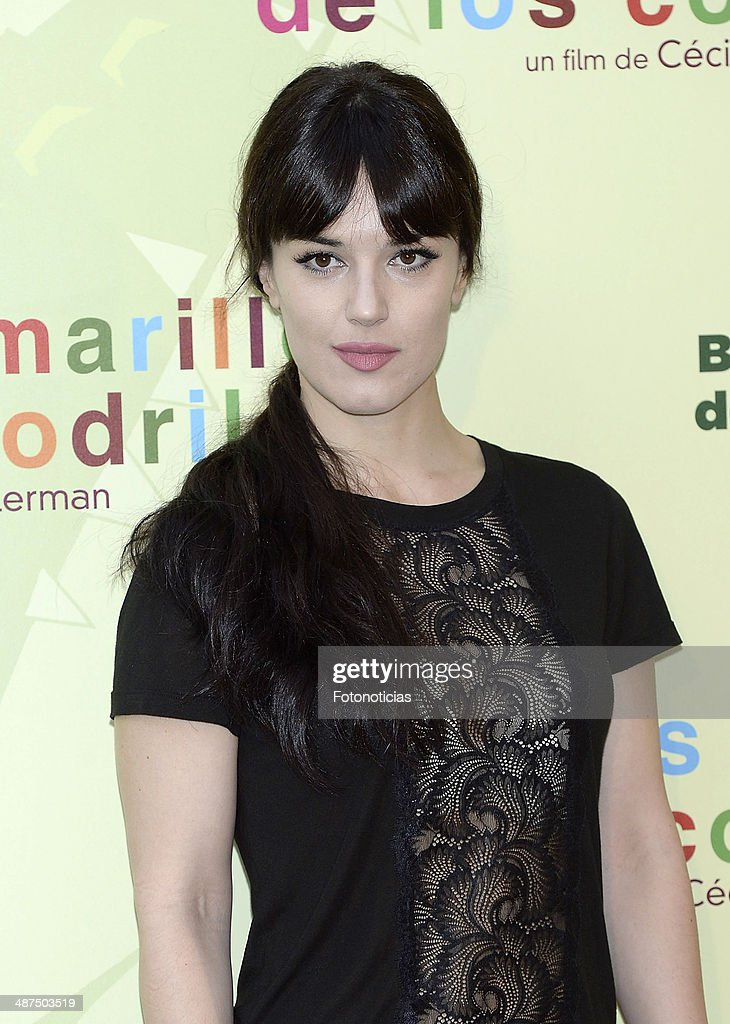 Sara Vega attends the 'Los Ojos Amarillos de los Cocodrilos' premiere the Academia del Cine on April 30, 2014 in Madrid, Spain.