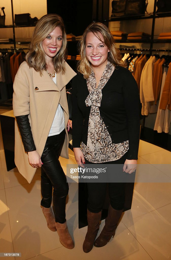 sara Visser and Linna Chambery at the Marie Claire & Emporio Armani Event on November 7, 2013 in Chicago, Illinois.