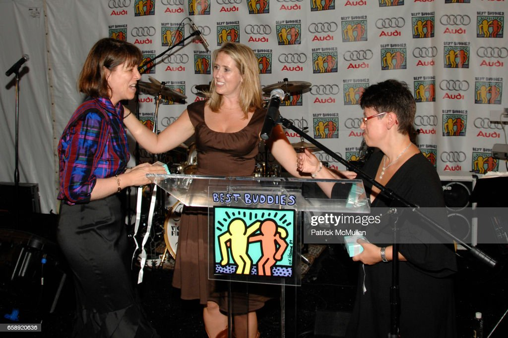 Sara Walker, Kristina Klug and Rachel Lipke attend the Best Buddies Hamptons Gala at the Home of Anne Hearst McInerney and Jay McInerney on August 21, 2009 in Watermill, NY.