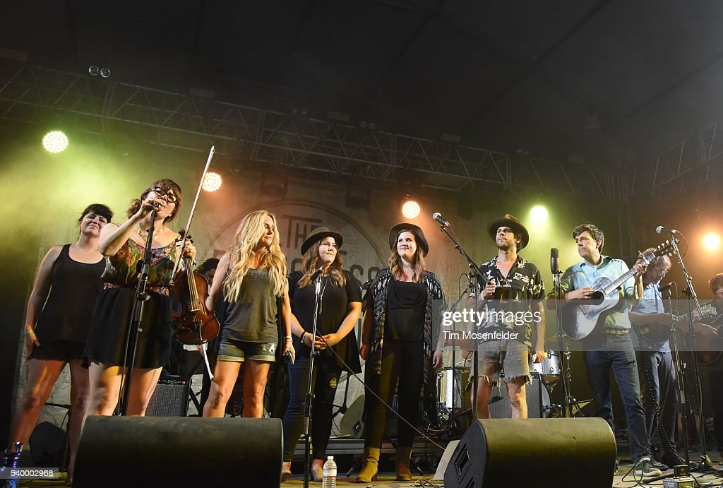 Sara Watkins Lee Ann Womack The Secret Sisters Langhorne Slim and Ed Helms perform during Bluegrass Situation with Ed Helms at the Bonnaroo Music...