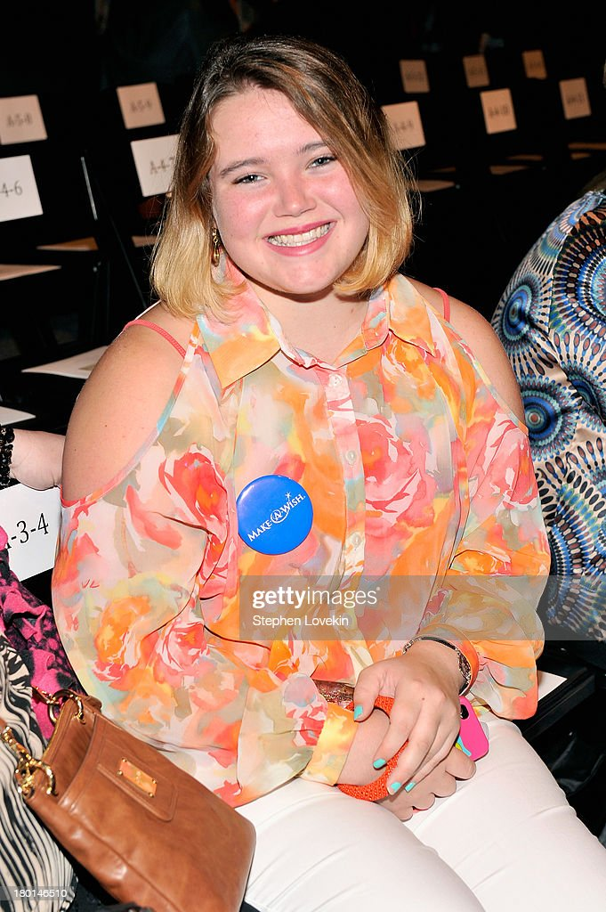 Sara Wright attends the Noon By Noor Spring 2014 fashion show during Mercedes-Benz Fashion Week at The Studio at Lincoln Center on September 6, 2013 in New York City.