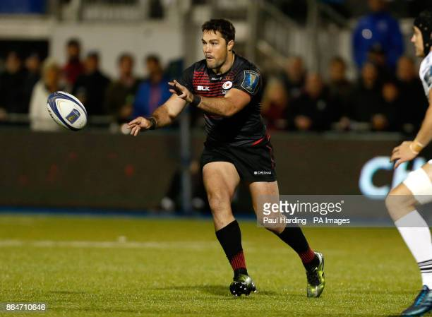 Saracens' Brad Barritt during the Champions Cup pool two match at Barnet Copthall London