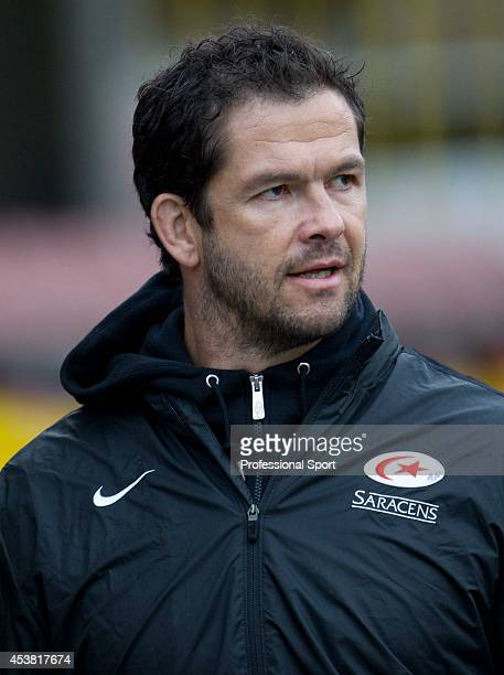 Saracens coach Andy Farrell during the Aviva Premiership match between Saracens and Sale Sharks at Vicarage Road on November 6 2011 in Watford England