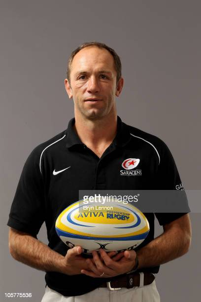 Saracens director of rugby Brendan Venter poses during the Aviva Premiership Season Launch at Twickenham Stadium on August 26 2010 in London England