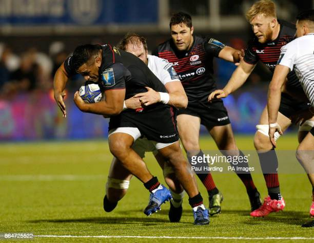 Saracens' Mako Vunipola during the Champions Cup pool two match at Barnet Copthall London