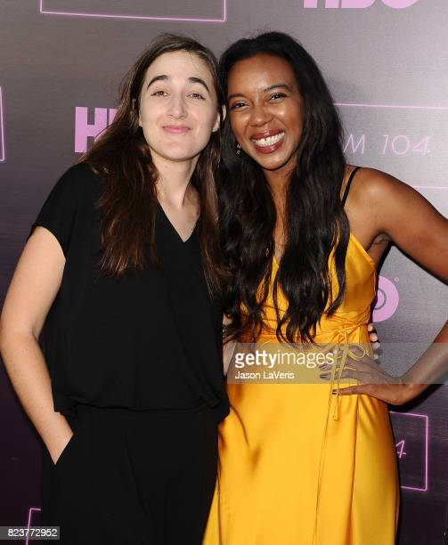 Sarah Adina Smith and Sameerah LuqmaanHarris attend the premiere of 'Room 104' at Hollywood Forever on July 27 2017 in Hollywood California