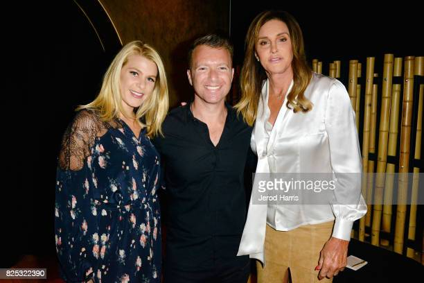 Sarah Adolphson WORLDZ cofounder and CEO Roman Tsunder and Caitlyn Jenner attend WORLDZ Cultural Marketing Summit at Hollywood and Highland on August...