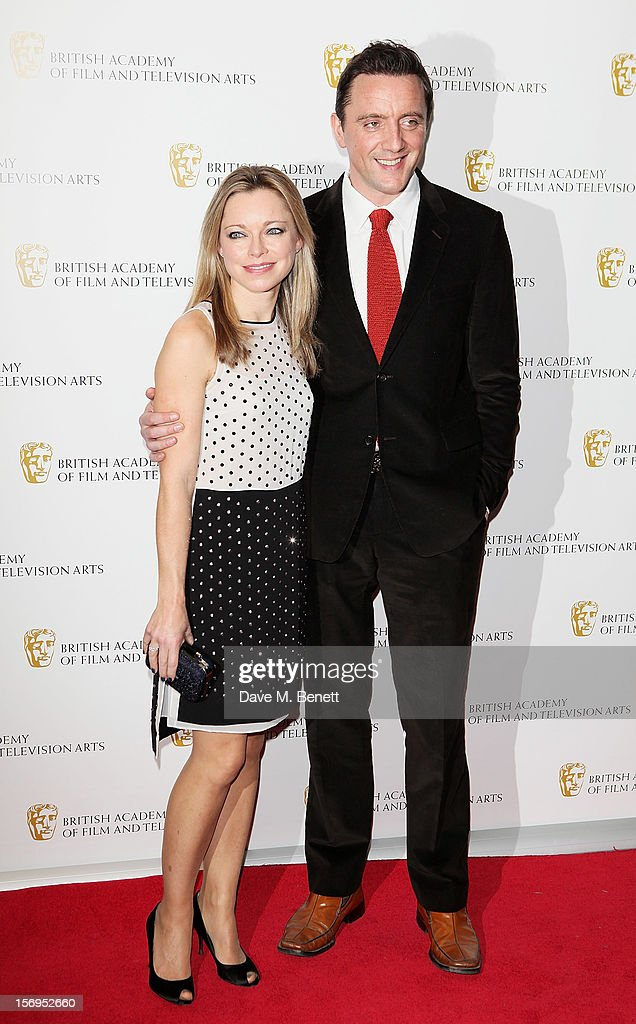 Sarah Alexander (L) and Peter Serafinowicz arrive at the British Academy Children's Awards at the London Hilton on November 25, 2012 in London, England.