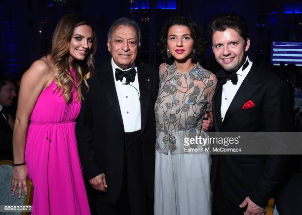 Sarah Alexandra McElravy Zubin Mehta Khatia Buniatishvili and Julian Rachlin at The British Friends' IPO Annual Gala 2017 with guest of honour...