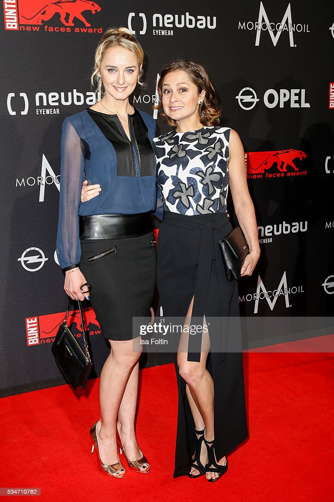 Sarah Alles and Anne-Catrin Maerzke attend the New Faces Award Film 2016 at ewerk on May 26, 2016 in Berlin, Germany.