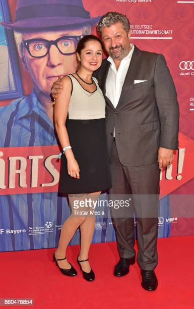 Sarah Alles and Aykut Kayacik attend the 'Vorwaerts immer' premiere at Kino International on October 11 2017 in Berlin Germany
