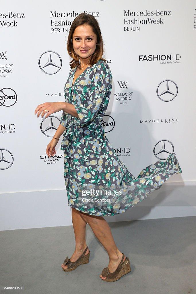 Sarah Alles attends the Rebekka Ruetz show during the Mercedes-Benz Fashion Week Berlin Spring/Summer 2017 at Erika Hess Eisstadion on June 29, 2016 in Berlin, Germany.