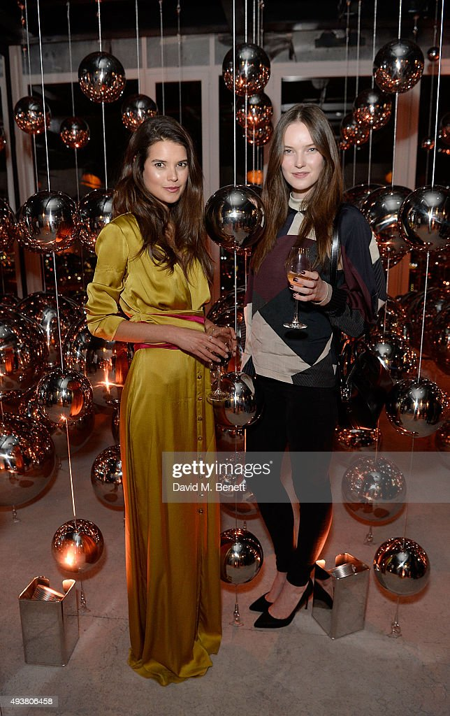 Sarah Ann Macklin and her cousin attend the opening of new landmark 41-storey development, South Bank Tower, with an exclusive event in the penthouse complete with a private performance by Paloma Faith, at South Bank Tower on October 22, 2015 in London, England.