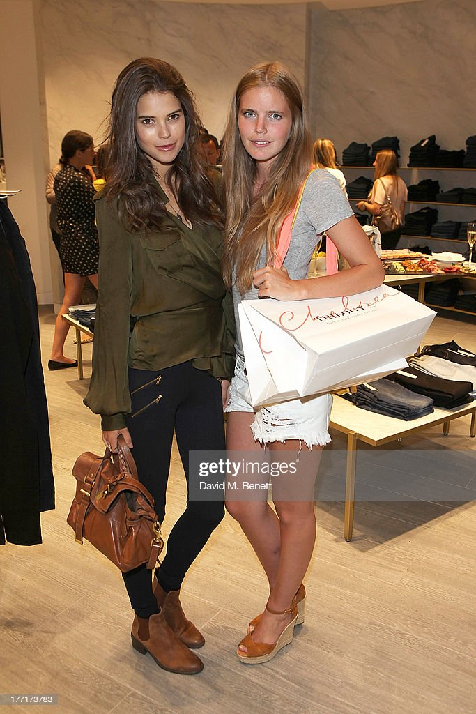 Sarah Ann Macklin and Katie Readman attend the Trilogy flagship store launch party on August 21, 2013 in London, United Kingdom.