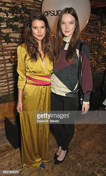 Sarah Ann Macklin and Lucy Evans attend the POPSUGAR ShopStyle UK party on October 22 2015 in London England